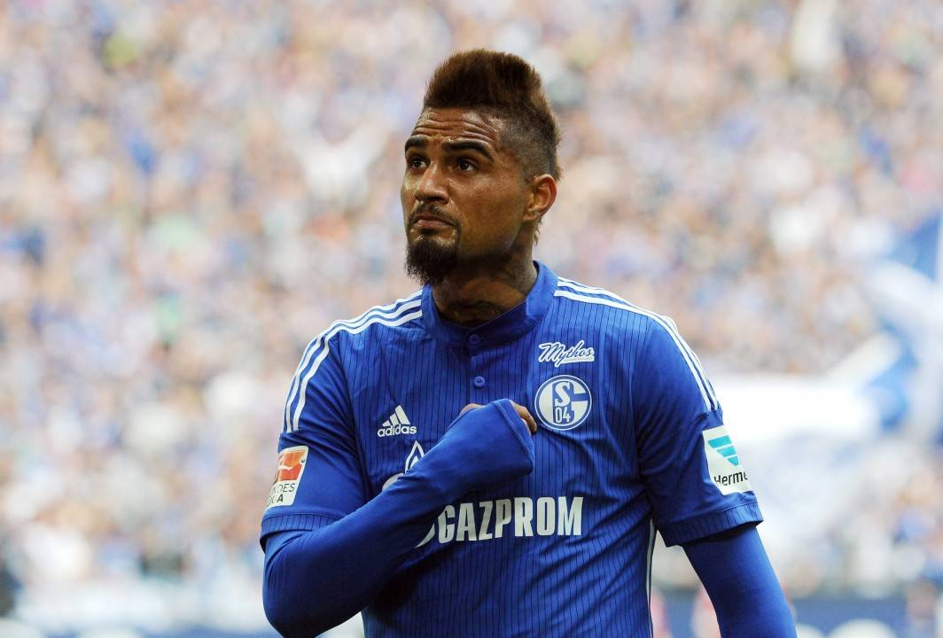 GELSENKIRCHEN,GERMANY,02.MAY.15 - SOCCER - 1. DFL, 1. Deutsche Bundesliga, FC Schalke 04 vs VfB Stuttgart. Image shows Kevin-Prince Boateng (Schalke). Photo: GEPA pictures/ Witters / Uwe Speck - ATTENTION - COPYRIGHT FOR AUSTRIAN CLIENTS ONLY