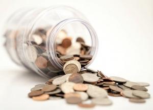 Münzen Glas